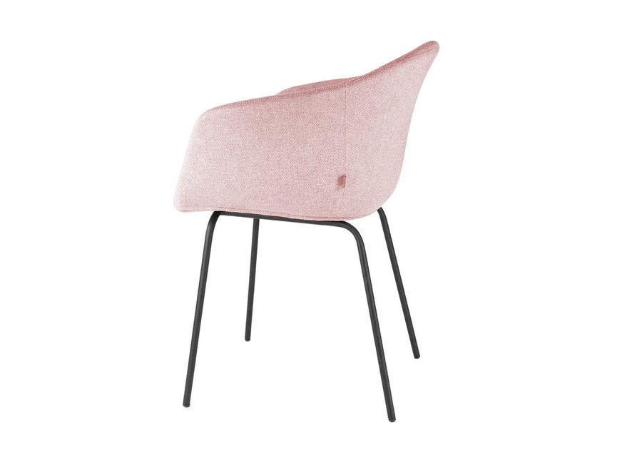Atrani Roze Stof met armleuning | Zwarte poten