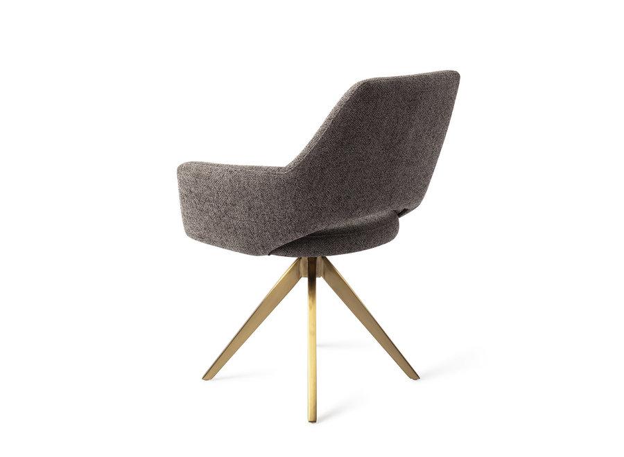 Chaise de salle à manger Yanai  - Amazing Grey, Turn Gold