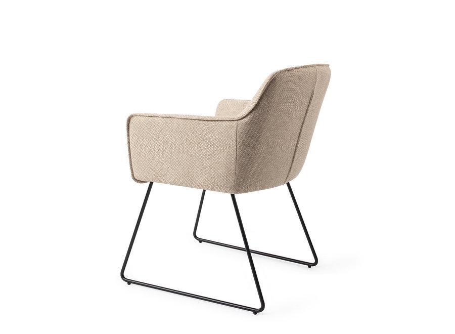 Chaise de salle à manger Hofu - Wild Walnut, Slide Black