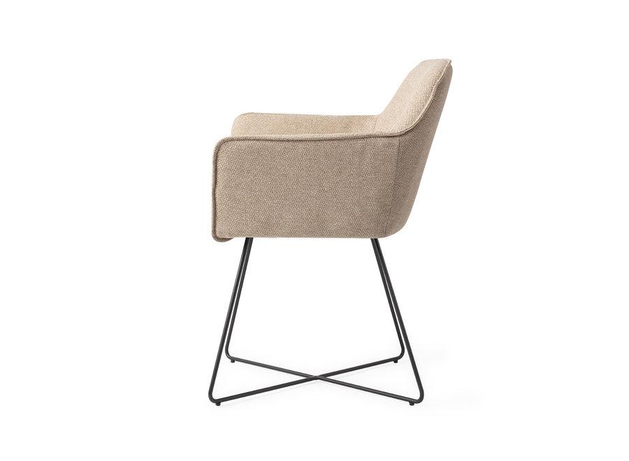 Chaise de salle à manger Hofu - Wild Walnut, Cross Black