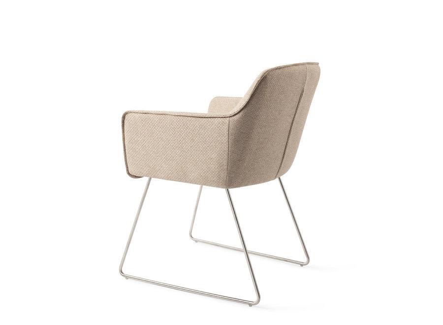 Chaise de salle à manger Hofu - Wild Walnut, Slide Steel