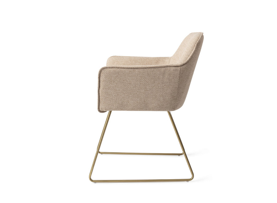 Chaise de salle à manger Hofu - Wild Walnut, Slide Gold