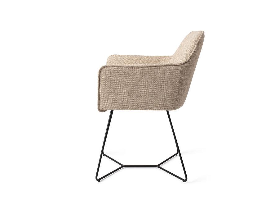 Chaise de salle à manger Hofu - Wild Walnut, Beehive Black