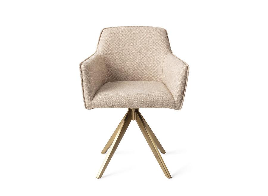 Chaise de salle à manger Hofu - Wild Walnut, Turn Gold