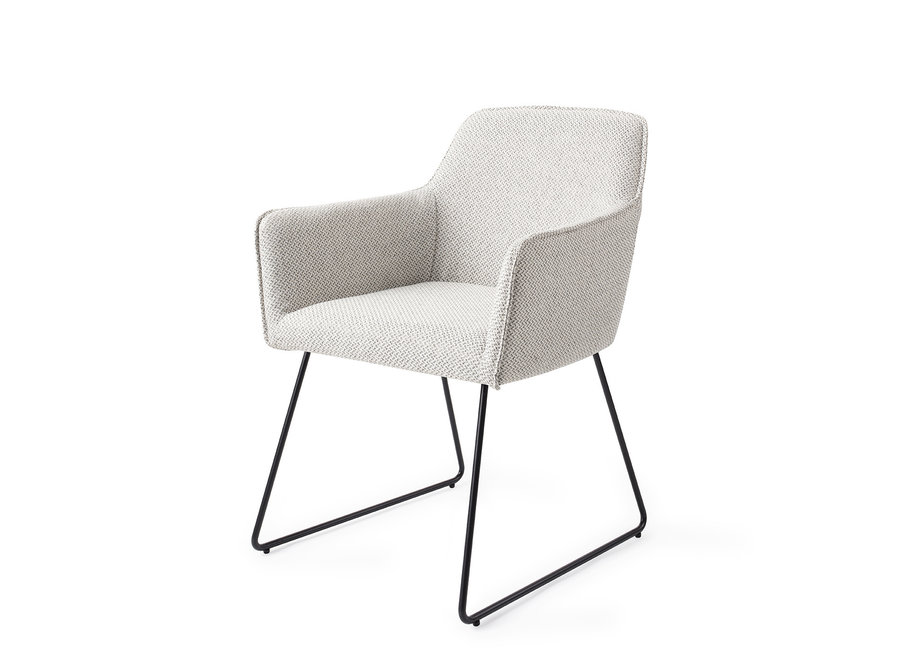 Chaise de salle à manger Hofu - Checkers Charm, Slide Black