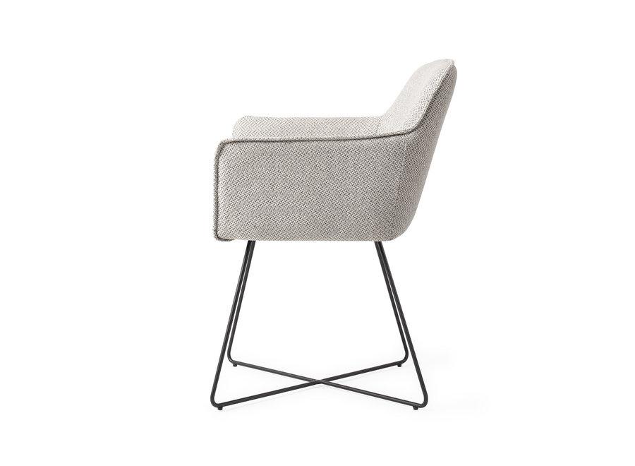 Chaise de salle à manger Hofu - Checkers Charm, Cross Black