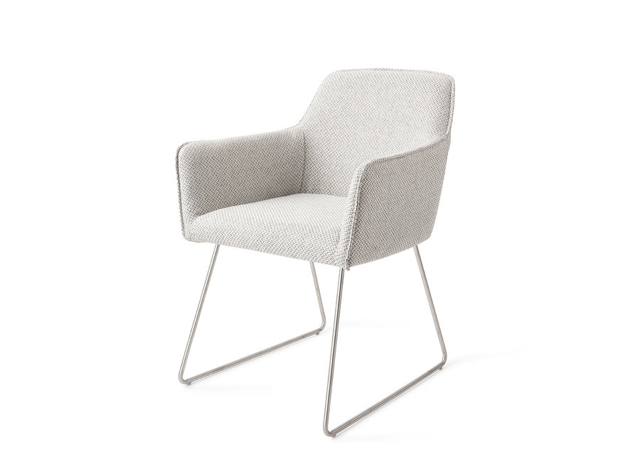 Chaise de salle à manger Hofu - Checkers Charm, Slide Steel
