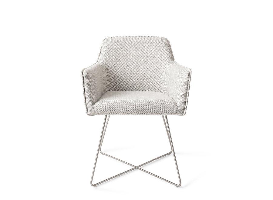 Chaise de salle à manger Hofu - Checkers Charm, Cross Steel