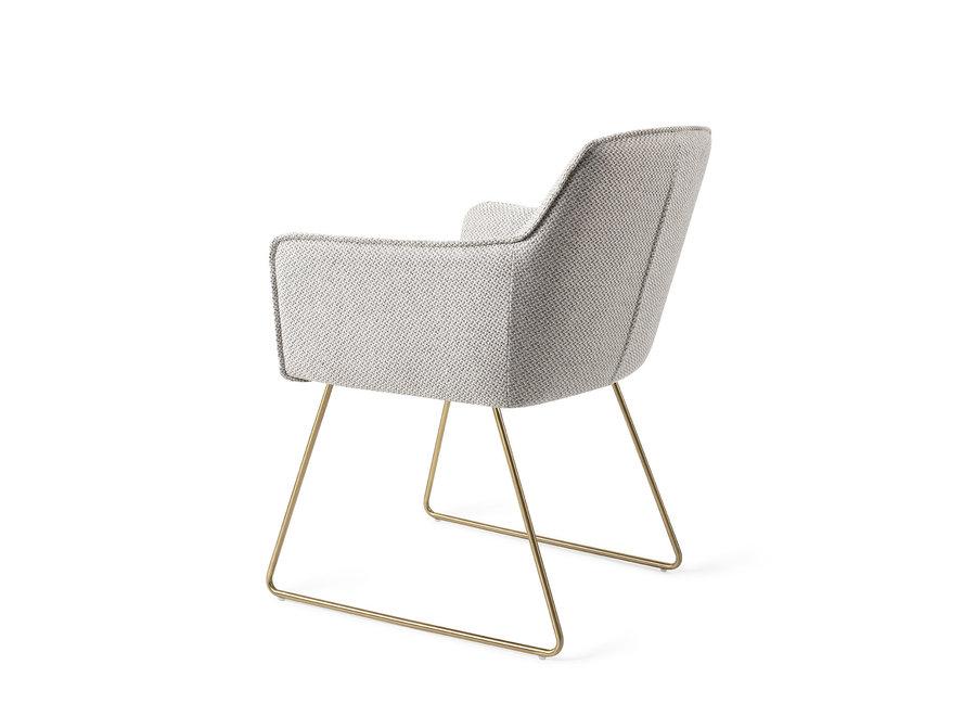 Chaise de salle à manger Hofu - Checkers Charm, Slide Gold