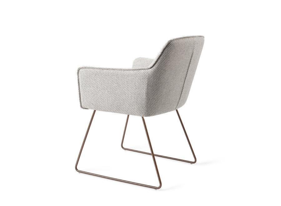 Chaise de salle à manger Hofu - Checkers Charm, Slide Rose Gold