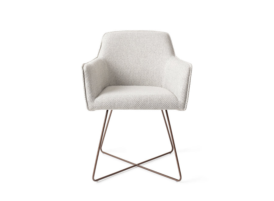 Chaise de salle à manger Hofu  - Checkers Charm, Cross Rose Gold