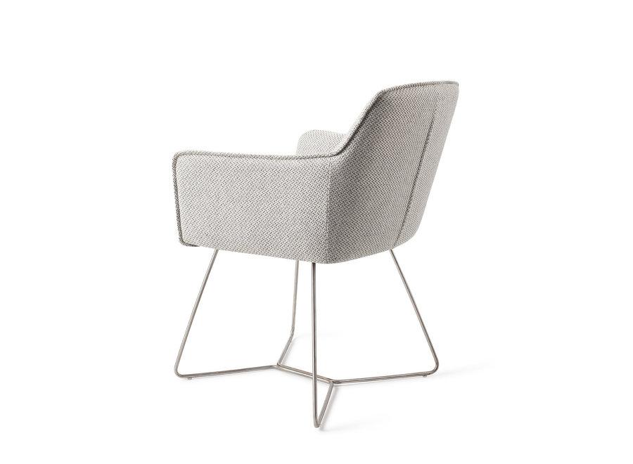Chaise de salle à manger Hofu - Checkers Charm, Beehive Steel