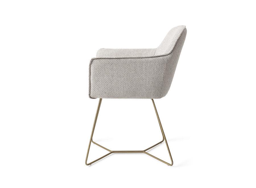 Chaise de salle à manger Hofu - Checkers Charm, Beehive Gold
