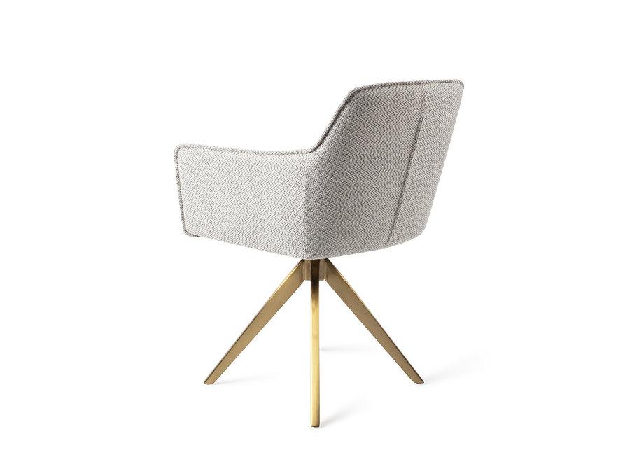 Chaise de salle à manger Hofu - Checkers Charm, Turn Gold