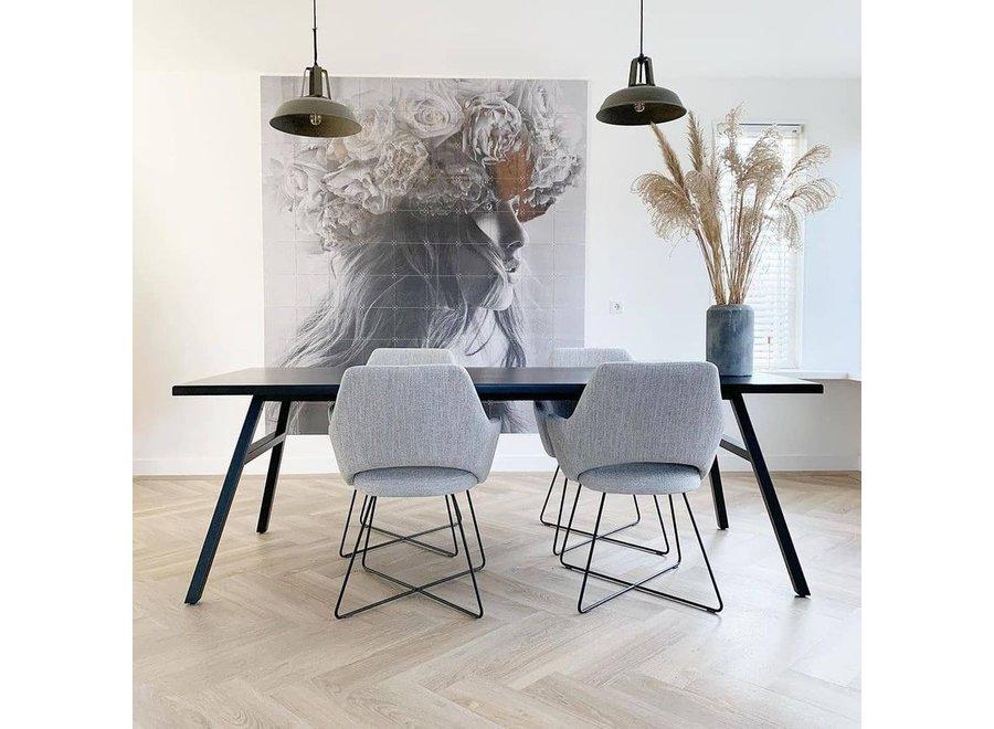 Chaise de salle à manger Yanai - Pigeon, Cross