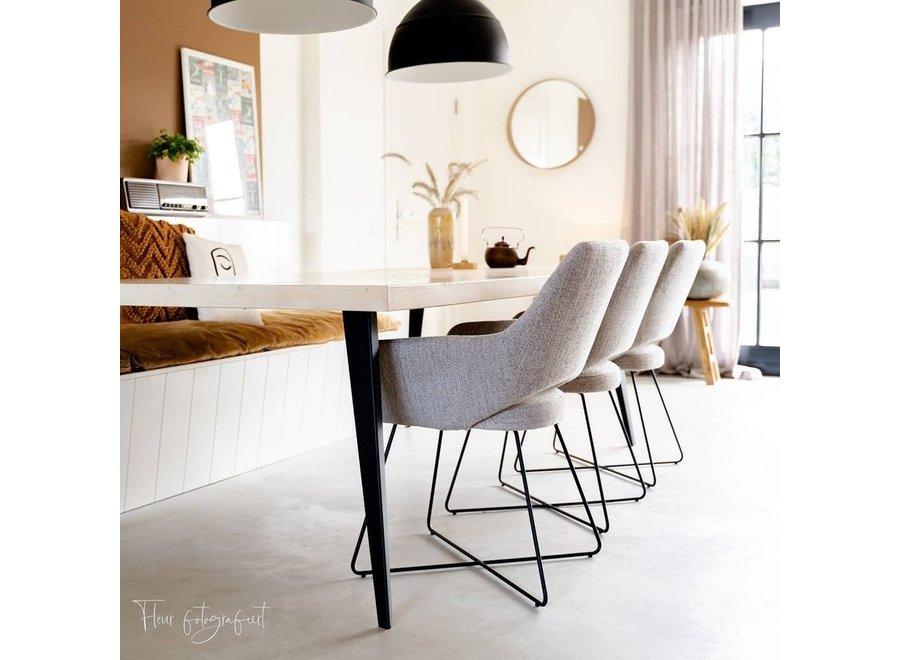 Chaise de salle à manger Yanai - Biscuit Beach Cross