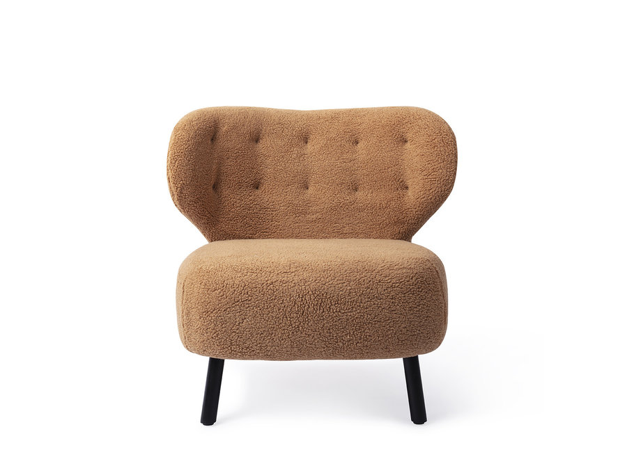 Kita Lounge stoel Caramel