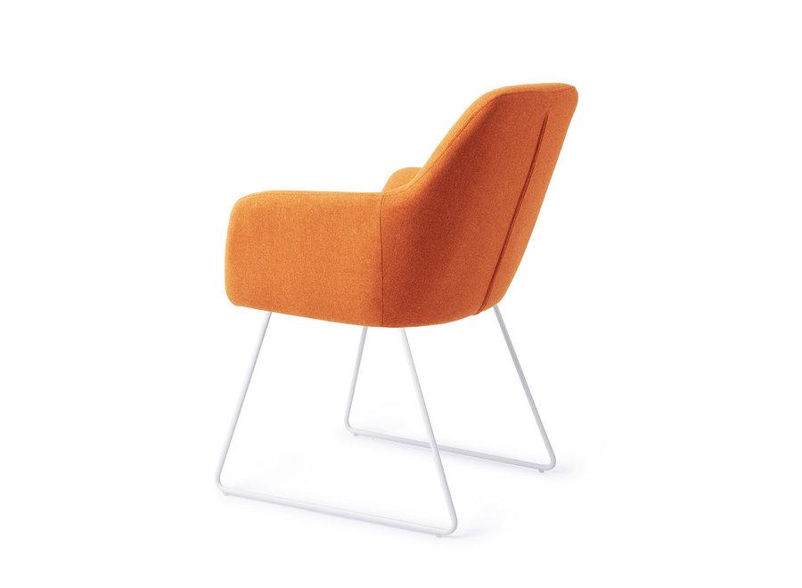 Kinko Eetkamerstoel - Tangerine, Slide White