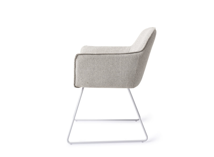 Hofu Eetkamerstoel - Checkers Charm, Slide White