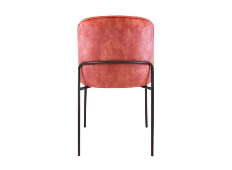 Design stoel Lexi Velvet- Roze
