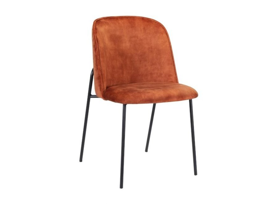 Design stoel Lexi Velvet- Oranje