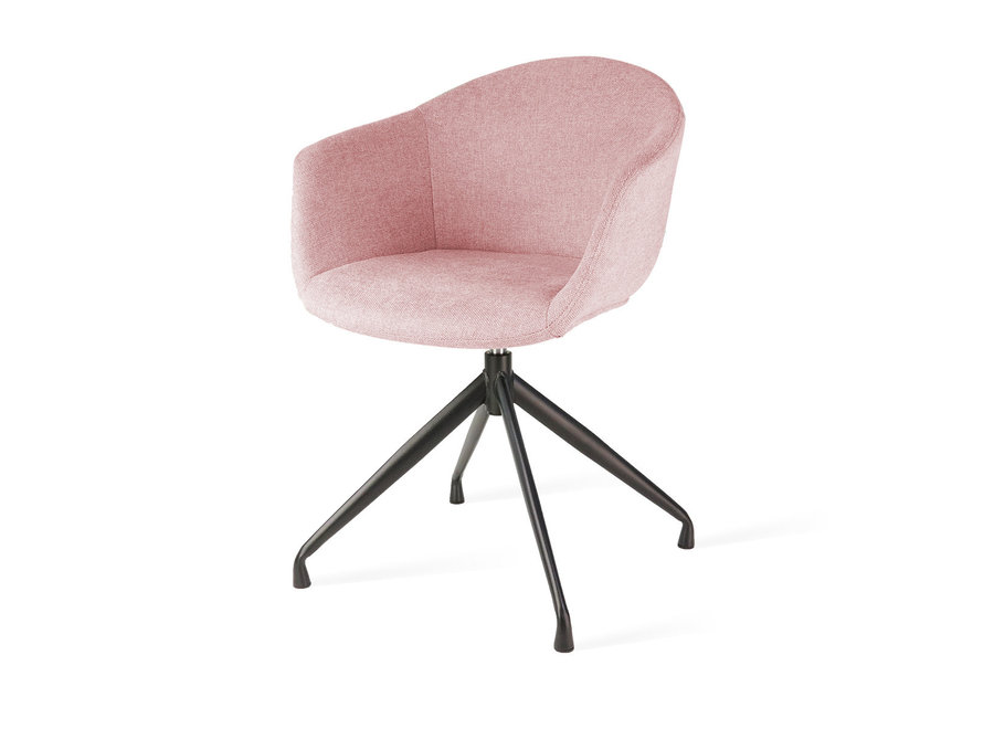 Levanzo turn-stof met armleuning Zwarte poten- Roze