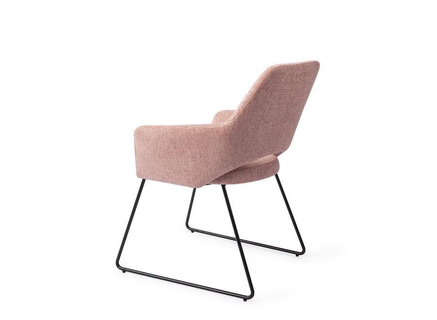Chaise de salle à manger Yanai - Pink Punch, Slide Black