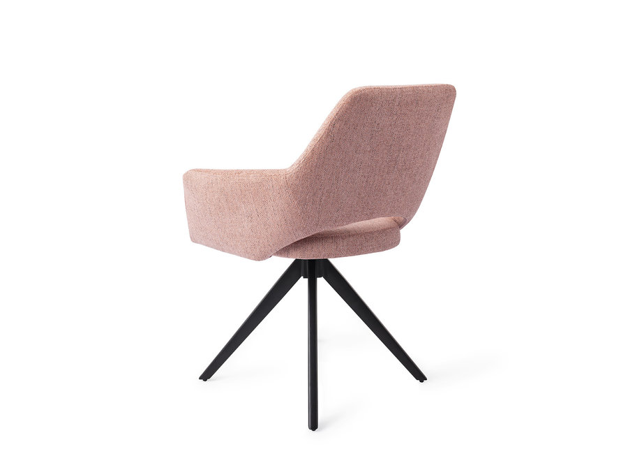 Chaise de salle à manger Yanai  - Pink Punch, Turn Black