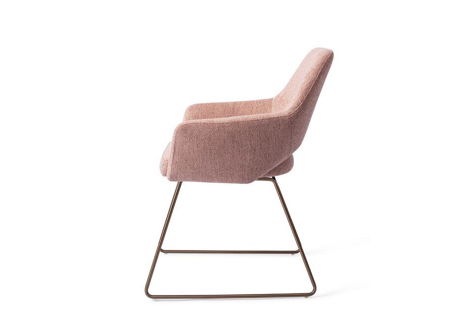Chaise de salle à manger Yanai - Pink Punch, Slide Rose