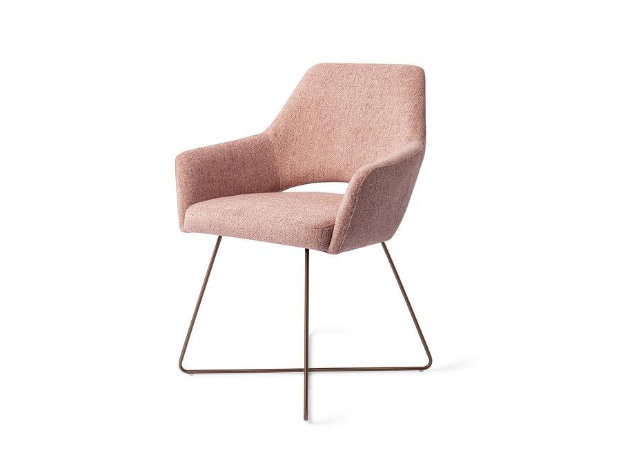 Chaise de salle à manger Yanai - Pink Punch, Cross Rose