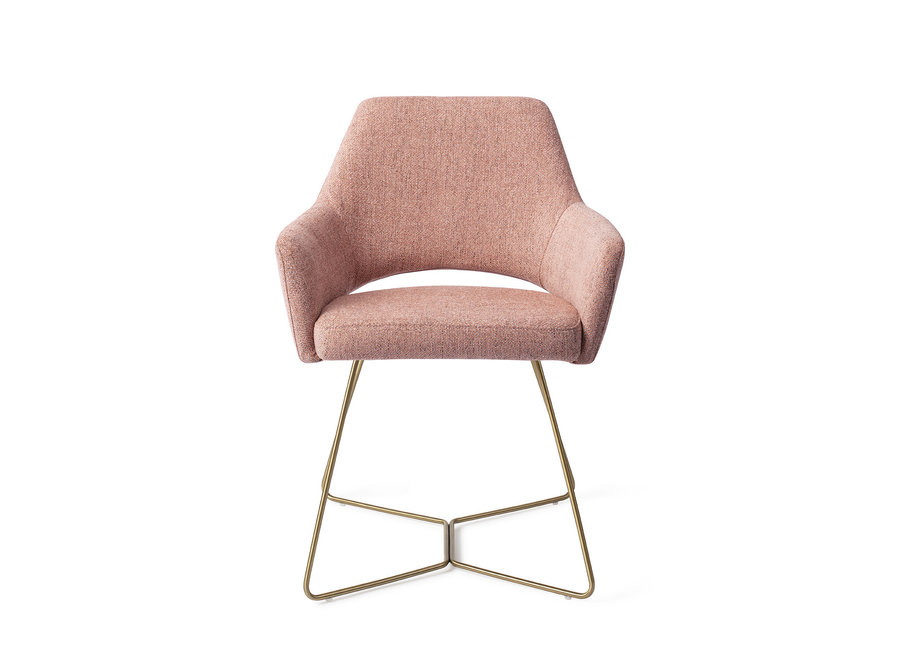 Chaise de salle à manger Yanai - Pink Punch, Beehive Gold