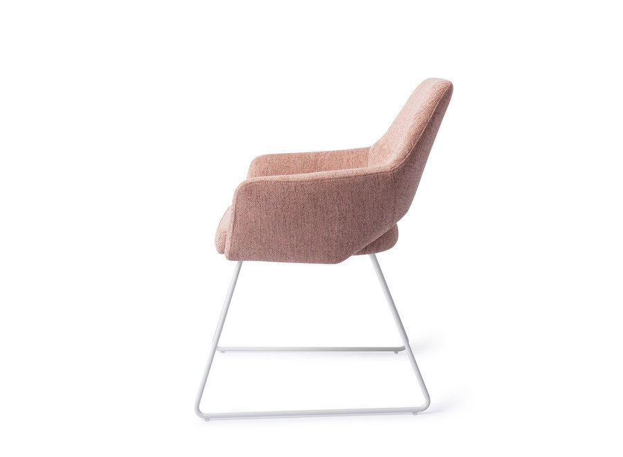 Chaise de salle à manger Yanai - Pink Punch, Slide White