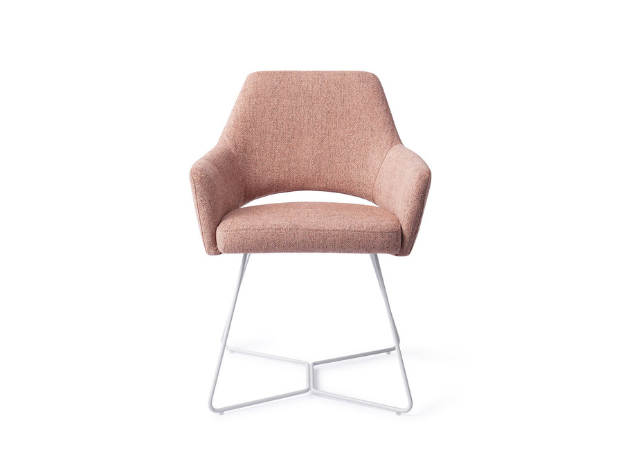 Chaise de salle à manger Yanai - Pink Punch, Beehive White