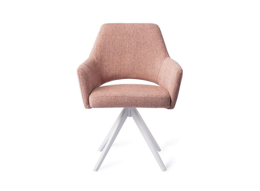Chaise de salle à manger Yanai - Pink Punch, Turn White