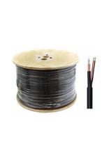 Combi kabel RG59 + 2x 0.75 mm2 haspel 100 meter