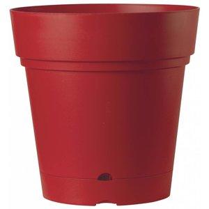 Ronde bloempot 58 cm kersenrood (wieltjes & waterreservoir)