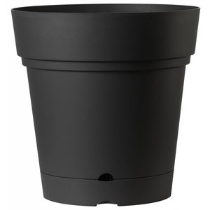 Pot de luxe 58 cm antracite (roules et réservoir d'eau)