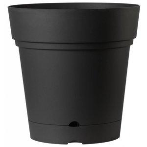 Ronde bloempot 58 cm antraciet (wieltjes & waterreservoir)