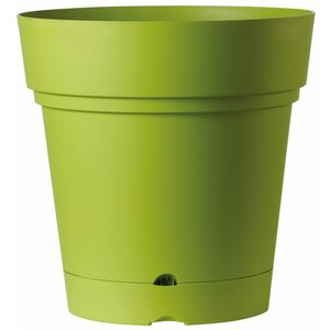 Ronde bloempot 58 cm olijfgroen (wieltjes & waterreservoir)