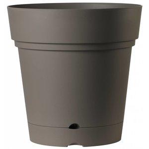 Ronde bloempot 58 cm taupe (wieltjes & waterreservoir)