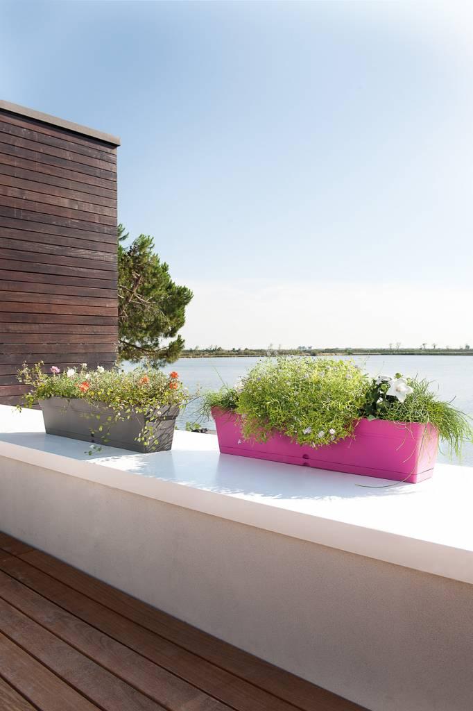 Bloembakken Voor Balkon.Balkon Bloembak 80 Cm Olijfgroen Waterreservoir E Surprice