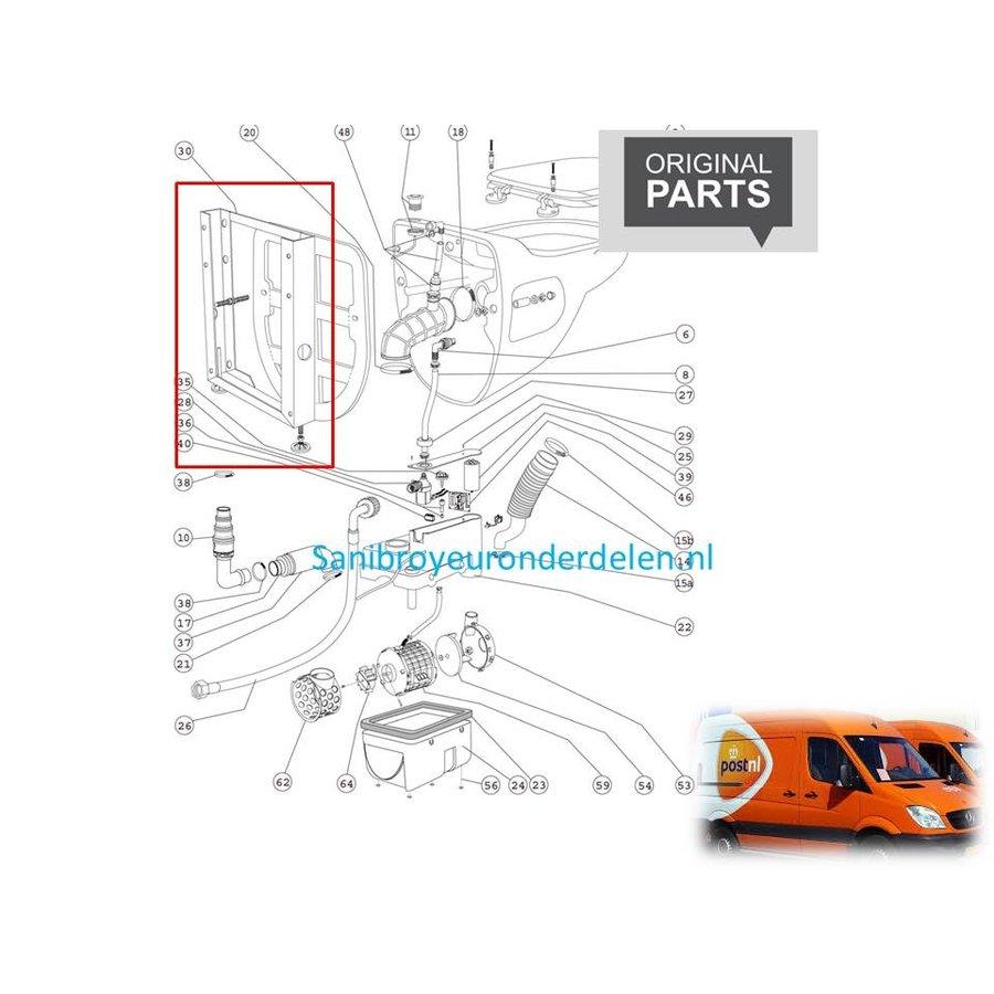 Draagframe voor de Sanibroyeur Compact Star TP120120-1