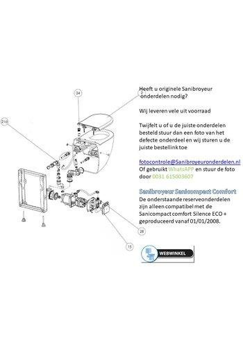 Sanibroyeur  onderdelen tekening Sanicompact Comfort