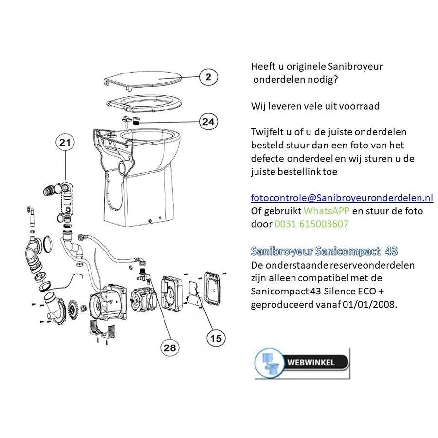 onderdelen tekening Sanicompact 43-1