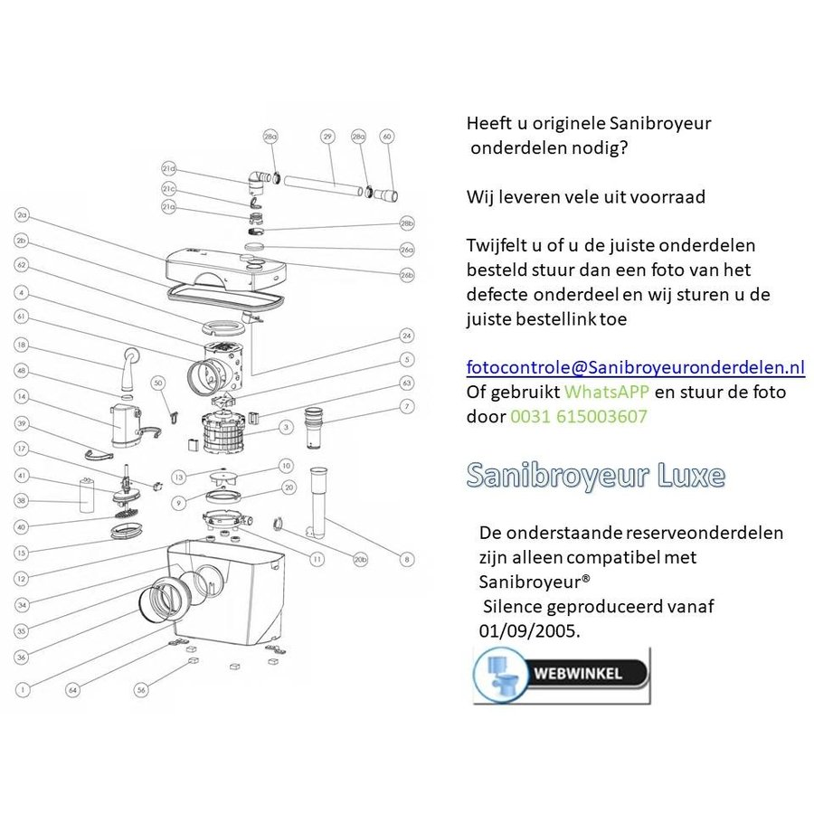 onderdelen tekeningen Sanibroyeur luxe-1