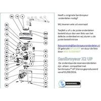 onderdelen tekeningen Sanibroyeur X2 UP