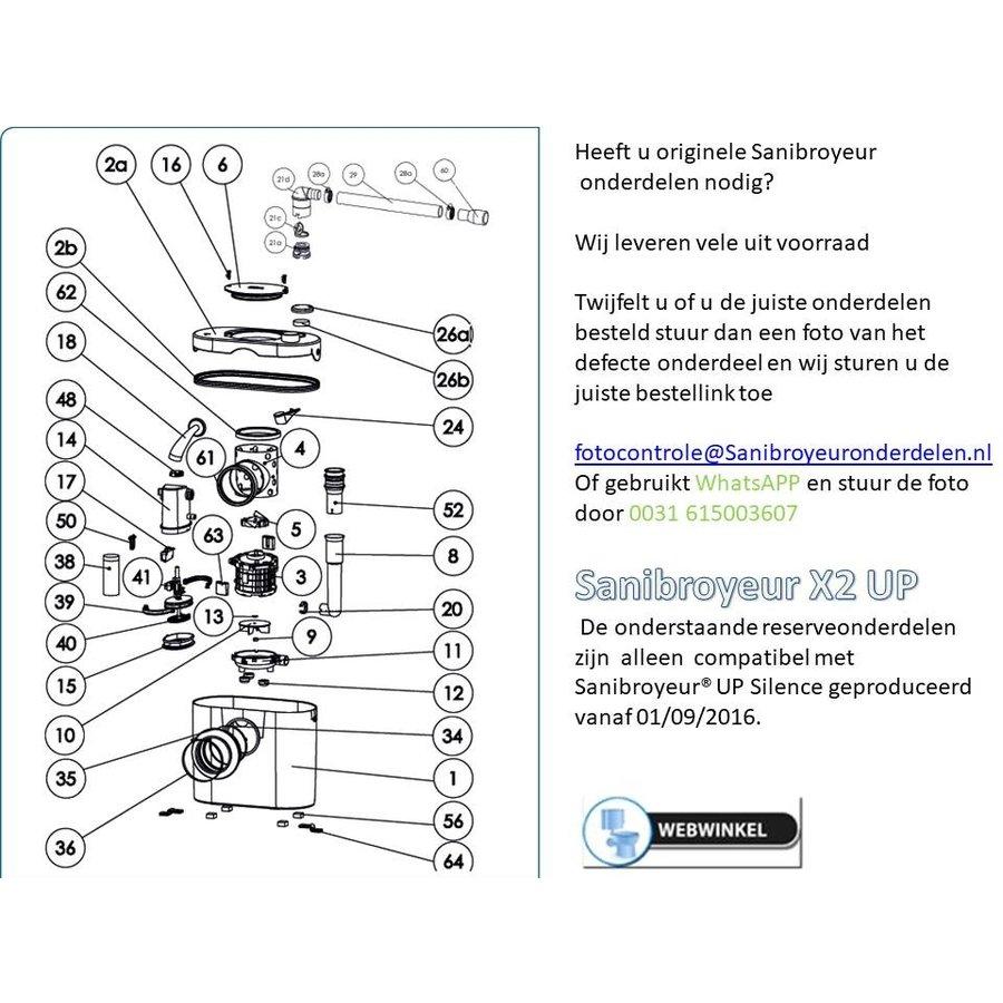 onderdelen tekeningen Sanibroyeur X2 UP-1