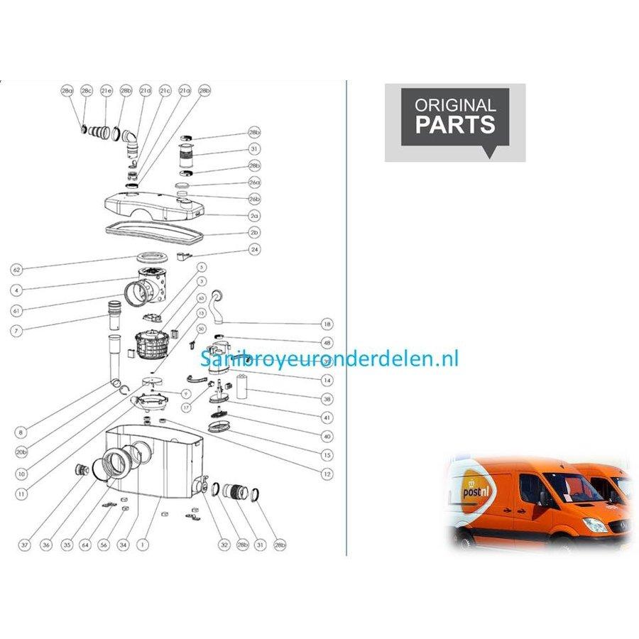 onderdelen tekeningen Sanibroyeur XR-1