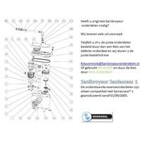 onderdelen tekeningen Sanibroyeur Access 1