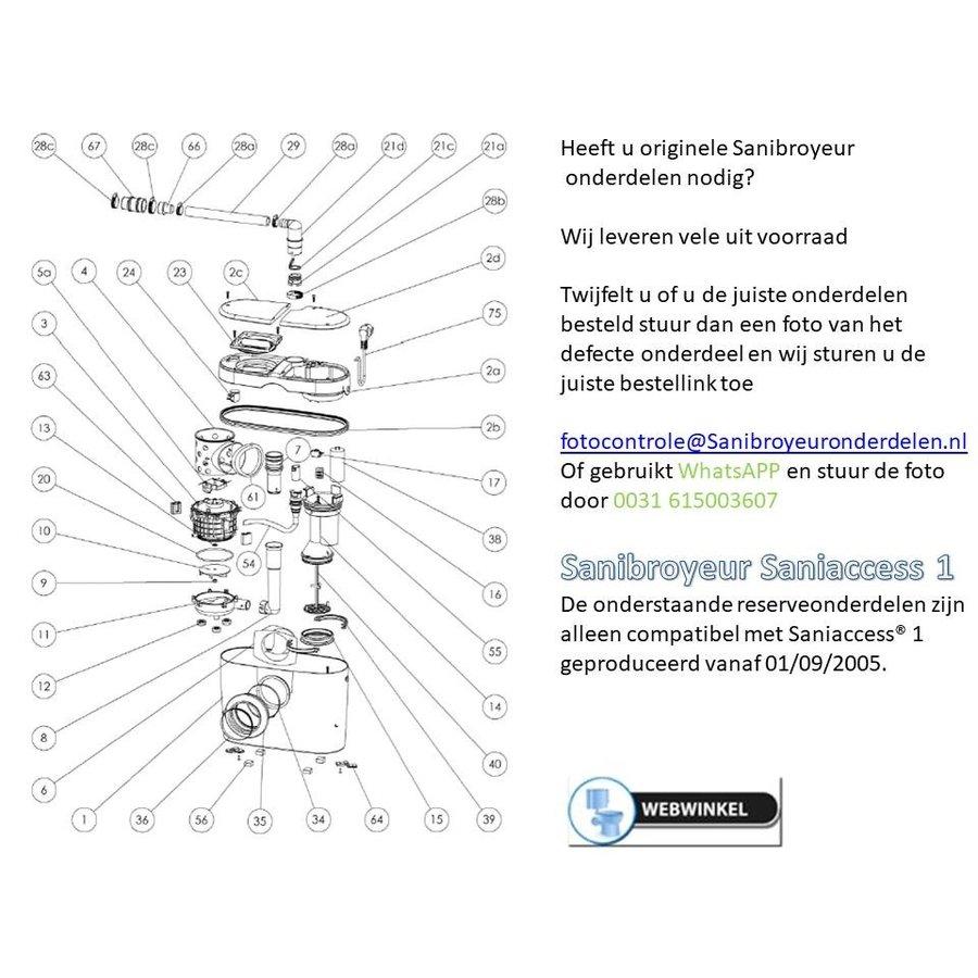 onderdelen tekeningen Sanibroyeur Access 1-1